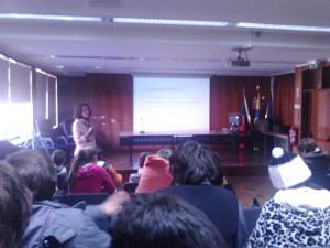 Professora Anabela Rodrigues durante a sessão